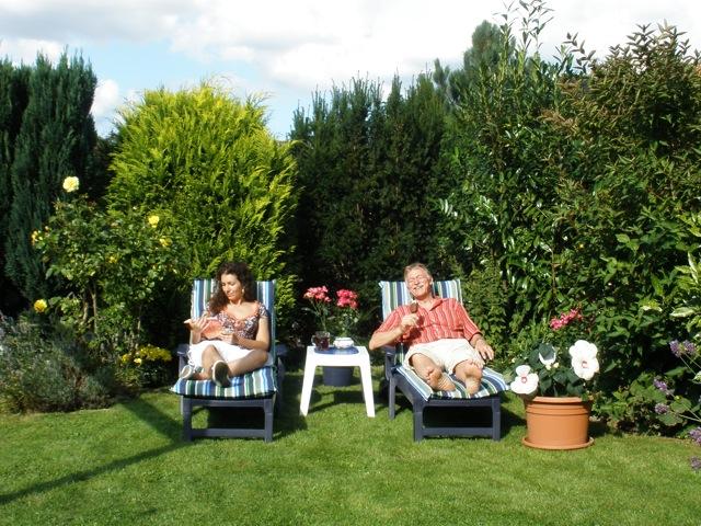 Kappeln - Im Garten entspannen